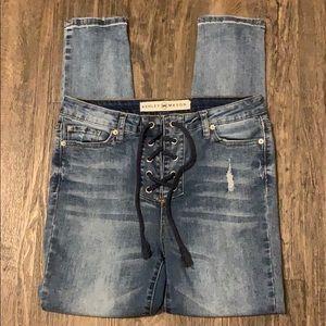 Ashley Manson Tie Skinny Jeans